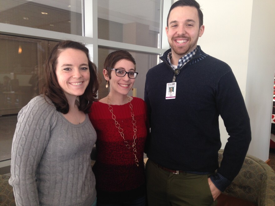 Kathy Smith, Miriam Steinberg, and Max Rosen are 4th year students at Washington University's School of Medicine.