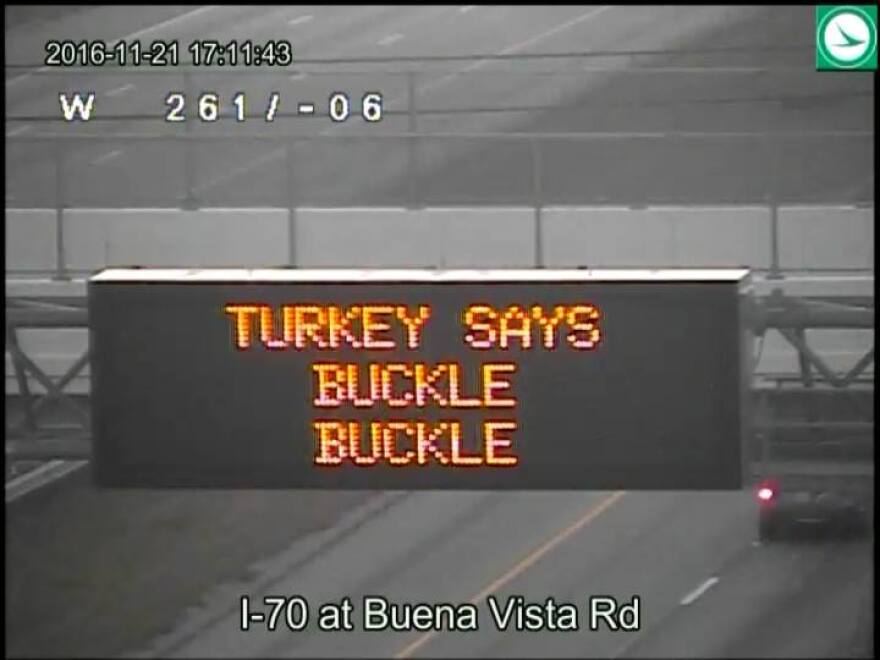 ODOT sign warning drivers to buckle up