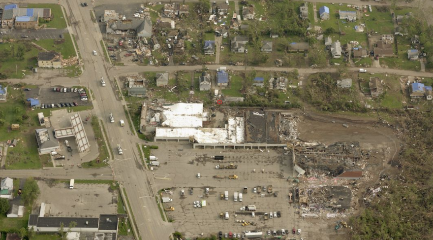 Arial shot after the Memorial Day tornadoes.