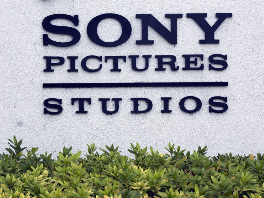 Sony Pictures Studios headquarters building is seen in Culver City, Calif., on Friday. President Obama has criticized Sony for cancelling distribution of <em>The Interview</em> following after the studio was hacked by North Korea.