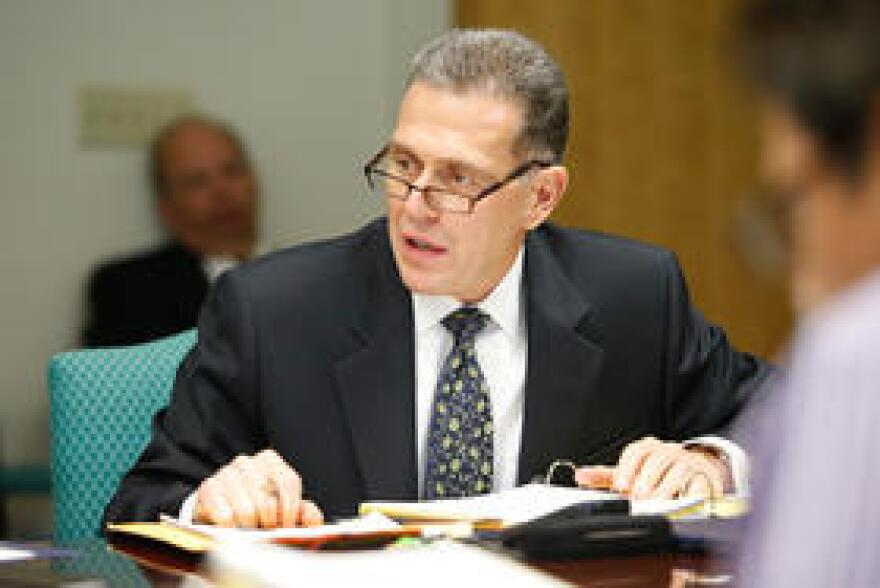 Dr. Constantine Toumbis attends a Citrus Memorial Health Foundation meeting in August 2014.