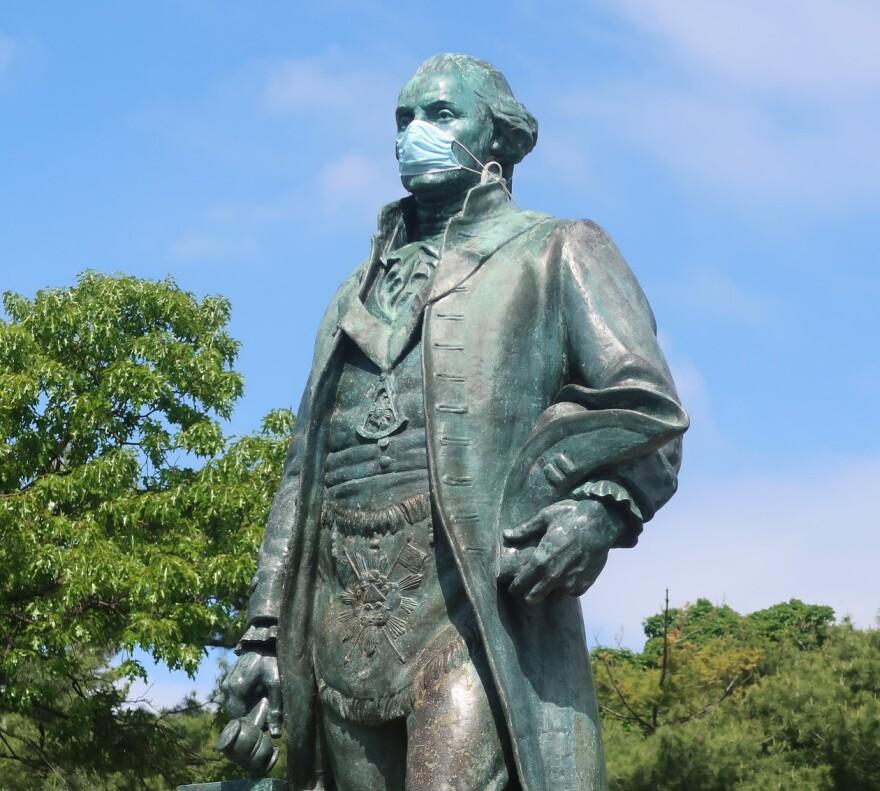 George Washington Wears A Mask
