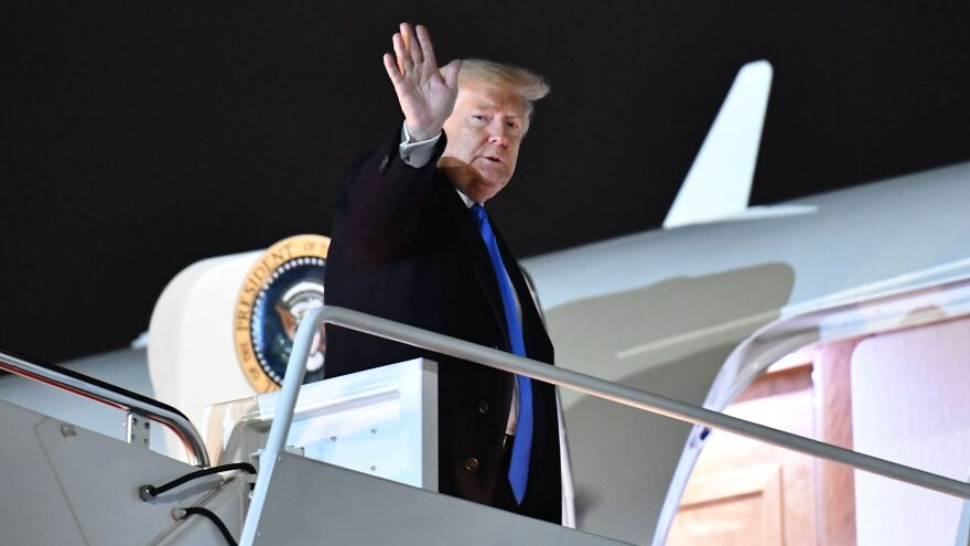 President Trump travels to London on Monday. But as the House Judiciary Committee holds its first hearing, it's unlikely Trump will be able to leave the impeachment inquiry behind.