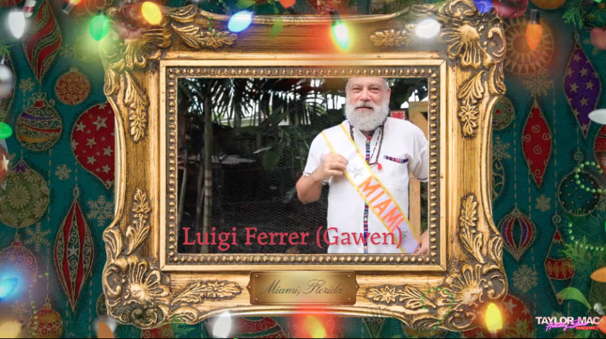 Luigi Ferrer in Taylor Mac Holiday Sauce pandemic.png