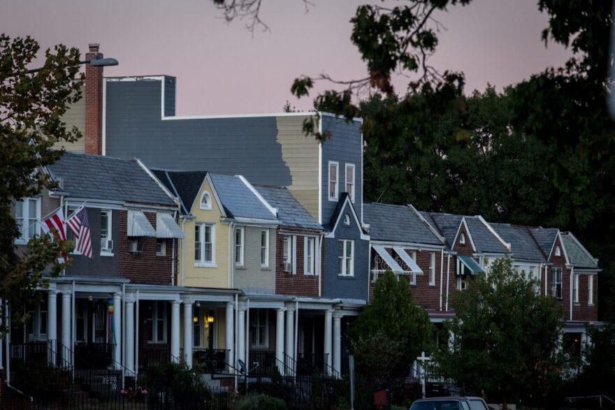 A row of homes situated in Northeast Washington, D.C.