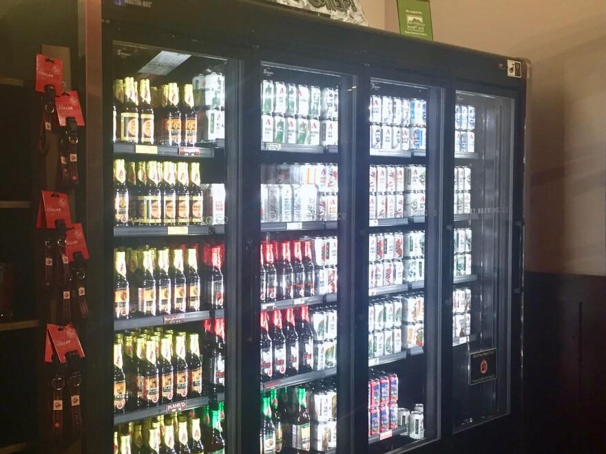 Photo of beer in store.