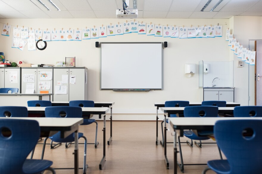 Photo of an empty classroom