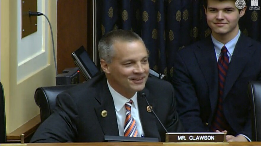 "Speaking about India, Rep. Curt Clawson told U.S. officials from the State and Commerce departments, ""I am familiar with your country. I love your country."""