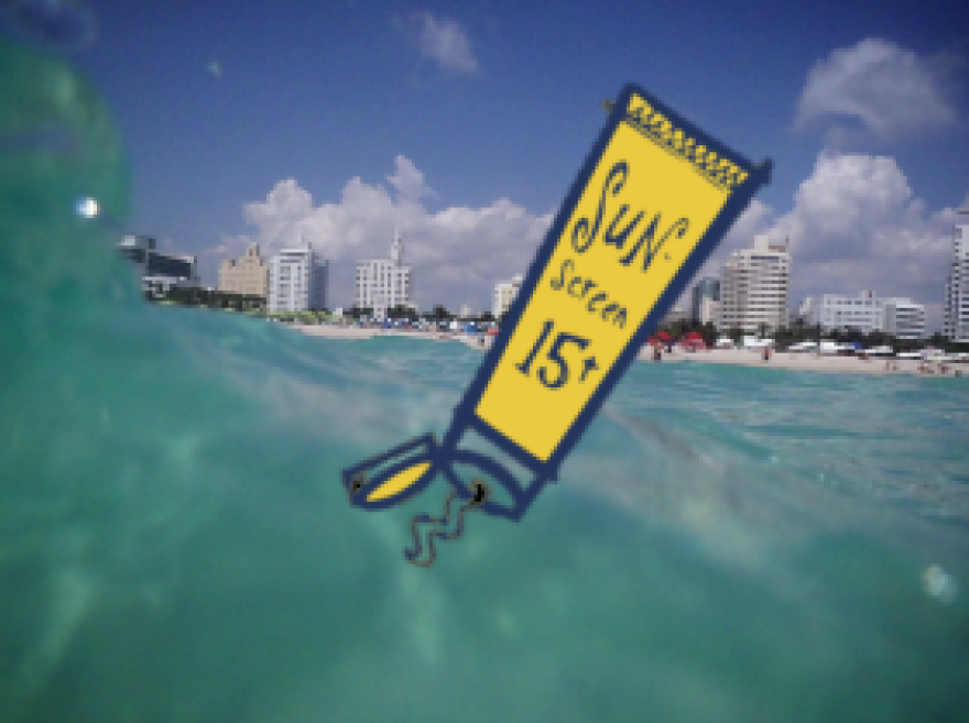 A new study out suggests some chemicals in sunscreen may harm marine organisms.