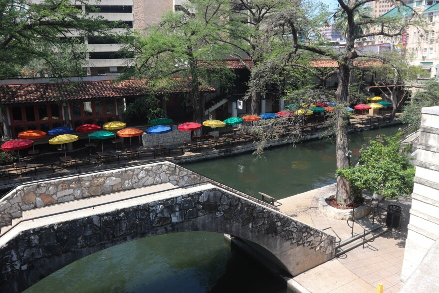 Downtown San Antonio is empty, on the street level and on the River Walk.