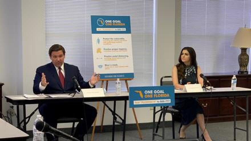 """Gov. Ron DeSantis told reporters that while he was """"religiously hyping positivity in March, April and May,"""" he now is unconvinced the positivity rate is an efficient barometer."""