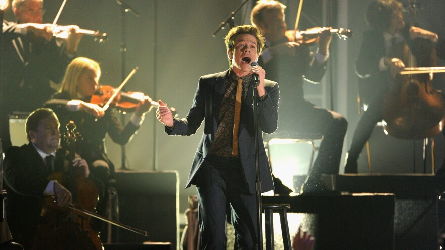 Nate Ruess performs at the Grammy nominations concert on Dec. 5. Ruess's band, fun., was nominated for Album, Record and Song of the year.