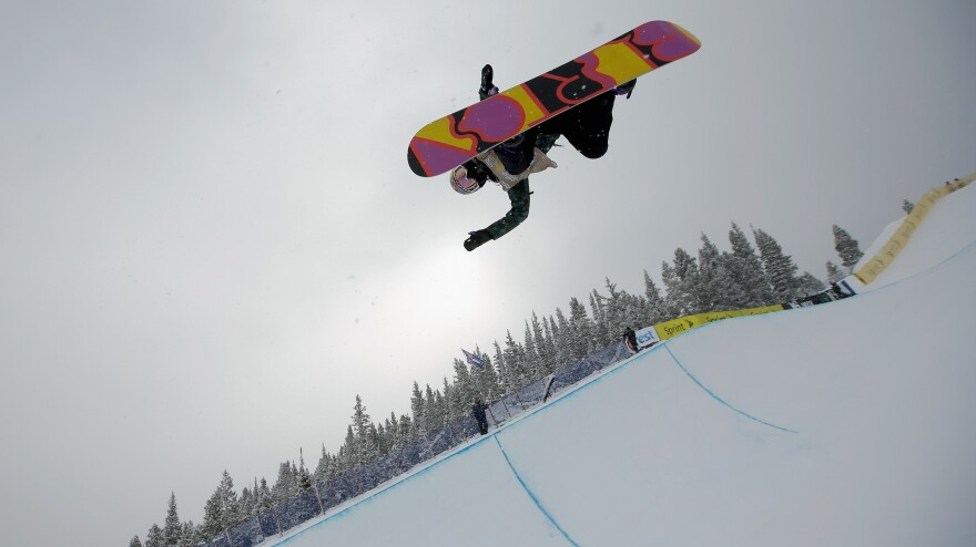 Arielle Gold takes her first run at the U.S. Snowboarding Grand Prix this month 2014 in Breckenridge, Colo., the third of five events to decide who makes it on the Olympic team.