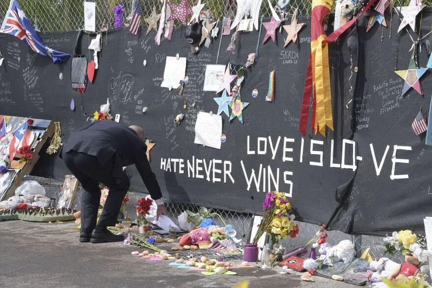 Scene outside the Pulse Nightclub shooting in Orlando