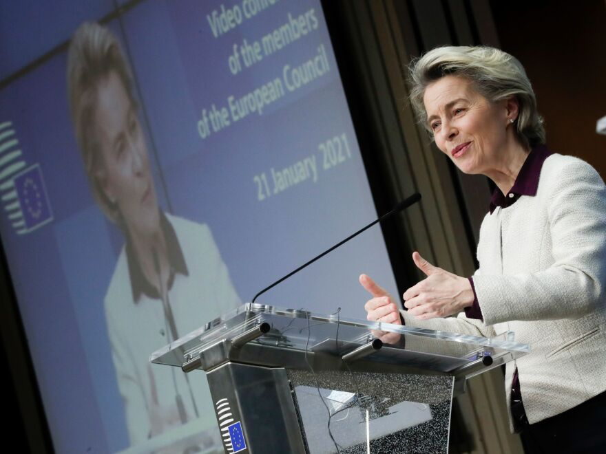 European Commission President Ursula von der Leyen announced AstraZeneca will deliver nine million additional doses of the company's coronavirus vaccine to the EU.