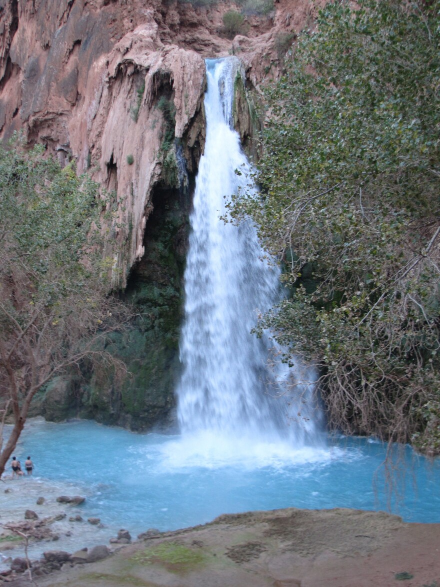 The Havasupai Reservation is best known for its waterfalls. Tourism is the tribe's main source of income.