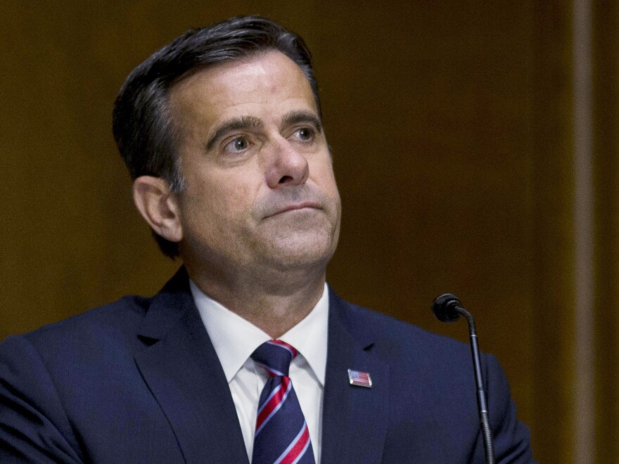 Director of National Intelligence John Ratcliffe during his earlier tenure in the House. He delivered a briefing on election threats on Wednesday evening.