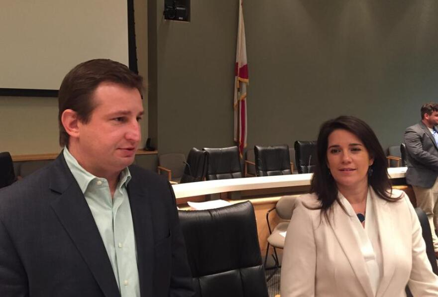 Left to right: Rep. Jason Brodeur (R-Sanford) and Sen. Anitere Flores (R-Miami).