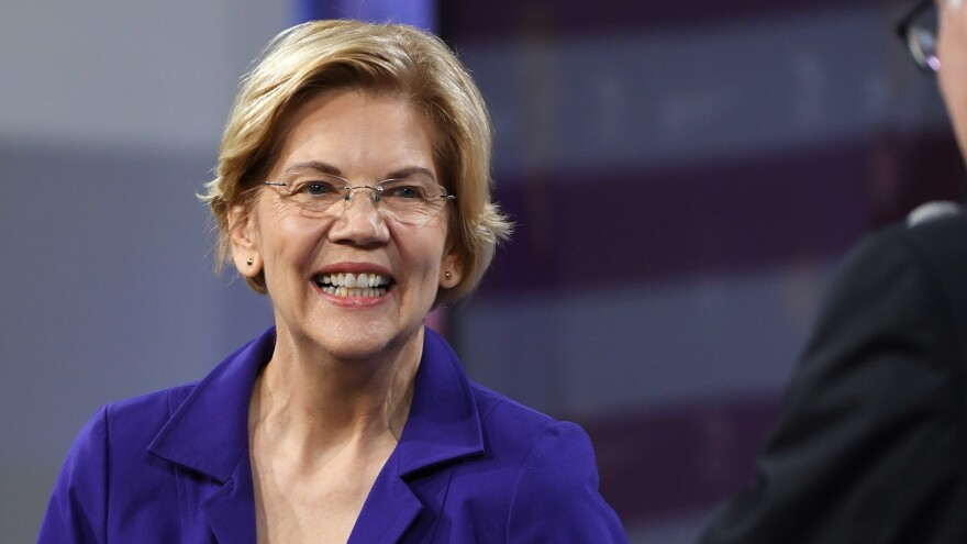 Sen. Elizabeth Warren, D-Mass., received top marks from the progressive grassroots organization Indivisible's rankings of the Democratic presidential candidates released on Wednesday.