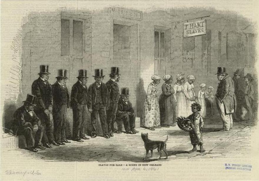 <em>Slaves For Sale: A Scene In New Orleans</em>