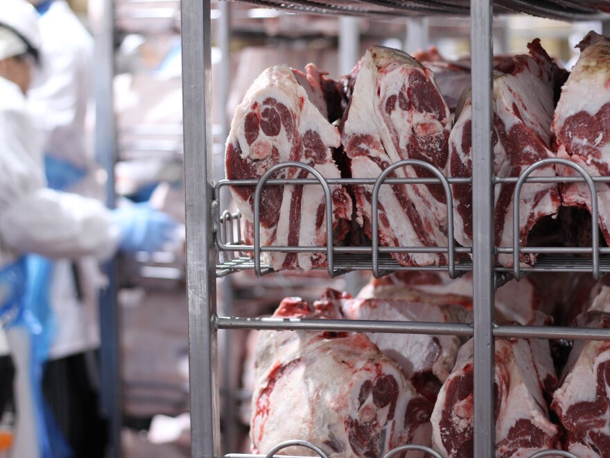 "<a href=""http://mediad.publicbroadcasting.net/p/kcur2/files/styles/x_large/public/201804/031918_ERH_Halal_CutsOfLamb.JPG""> </a> Cuts of halal lamb shoulder sit on a shelf at the Superior Farms plant in Denver, waiting to be sold to small specialty stores that cater to Muslim consumers."