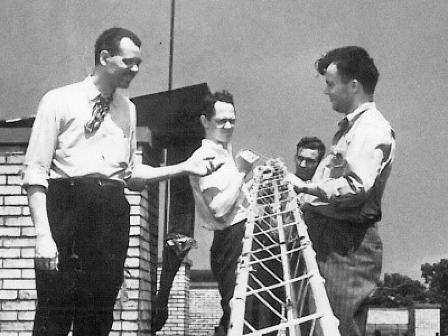 WKSU Students Installing The First Antenna