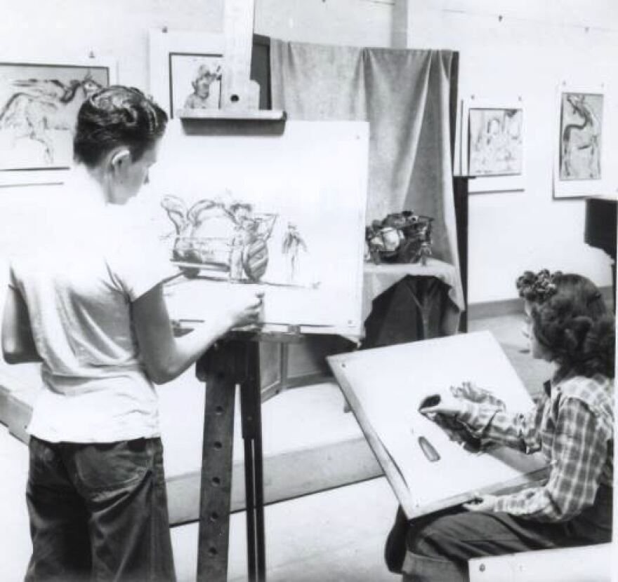 "Art classes were offered at the Witte Museum as part of what is now called ""Lifelong Learning."""