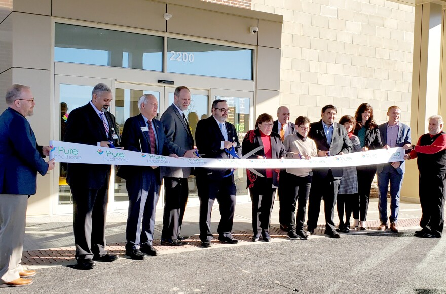 Pure Healthcare celebrated the grand opening of its new building on Wednesday, January 8, 2020, with a ribbon cutting ceremony at its three-story, 36,000-square-foot facility in Centerville, Ohio. The building is located behind Miami Valley Hospital.