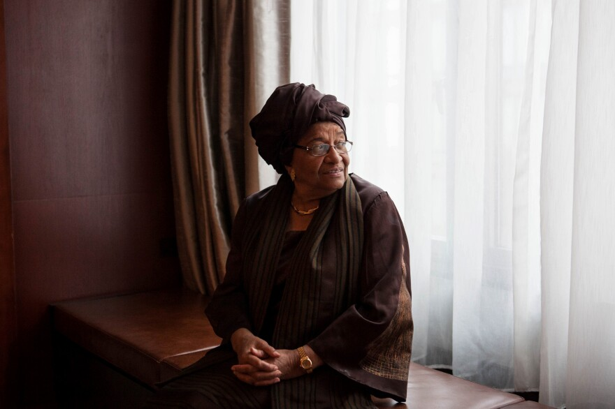 Liberian President Ellen Johnson-Sirleaf, photographed in Washington, D.C., on February 26.