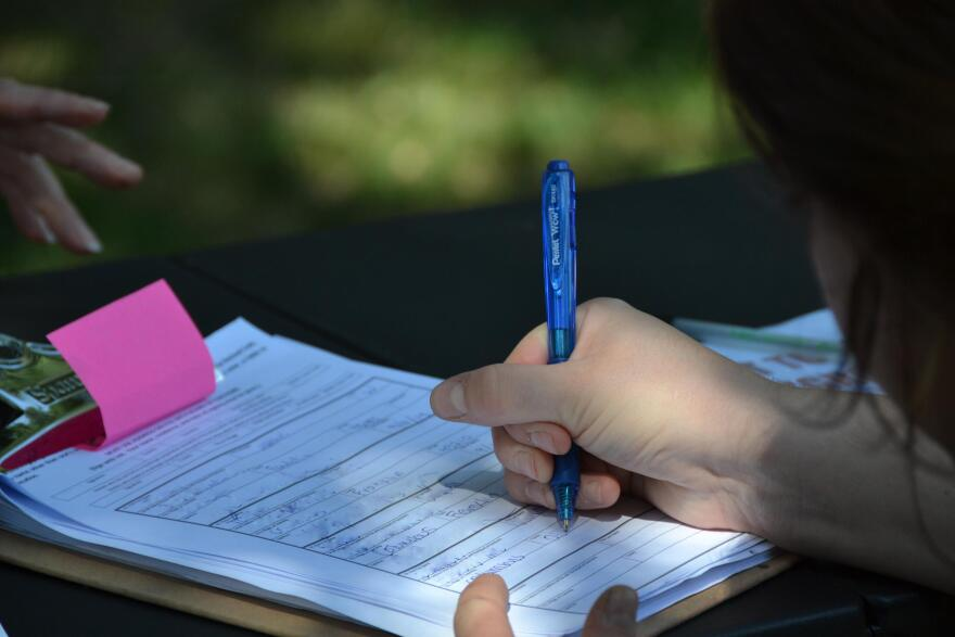 Pention workers for the nuclear power plant bailout are collecting signatures throughout Ohio.