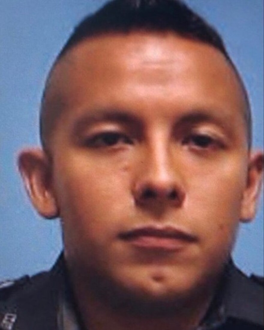 Dallas Police Officer Rogelio Santander died from his injuries Wednesday, one day after being shot by suspect Armando Juarez.