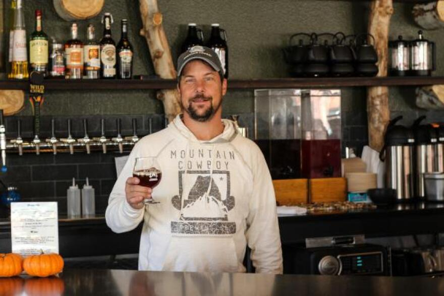 Ron Yovich opened a microbrewery in Frederick, Colorado, where he uses the hops he grows to make his beer.