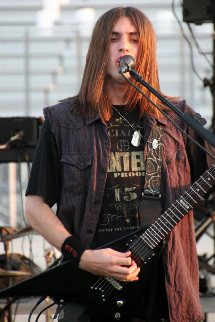 Caleb Caton w band obskurity at Riverview High School Relay for Life in March 2013._0.jpg
