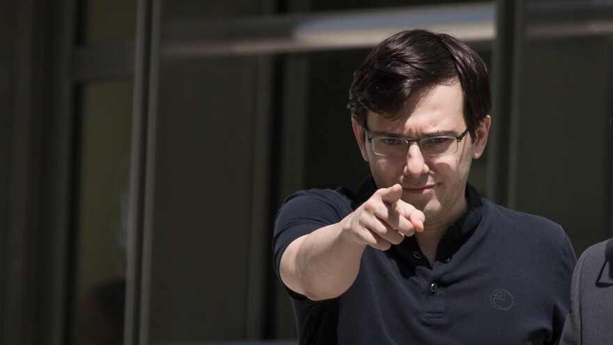 Martin Shkreli exits a Brooklyn courthouse after the jury issued a verdict in his case for securities fraud. Shkreli is selling a one-of-a-kind album from the Wu-Tang Clan he purchased in 2015.