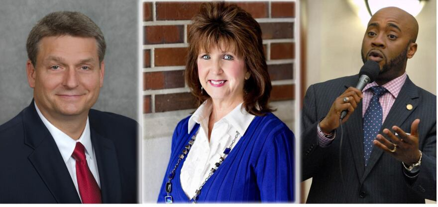 L-R: Mark Earley, Tena Pate, Rep. Alan Williams.