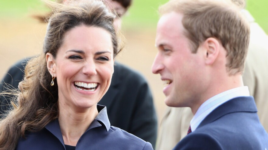 Kate Middleton and Prince William visit Whitton Park on April 11, 2011 in Darwen, England.