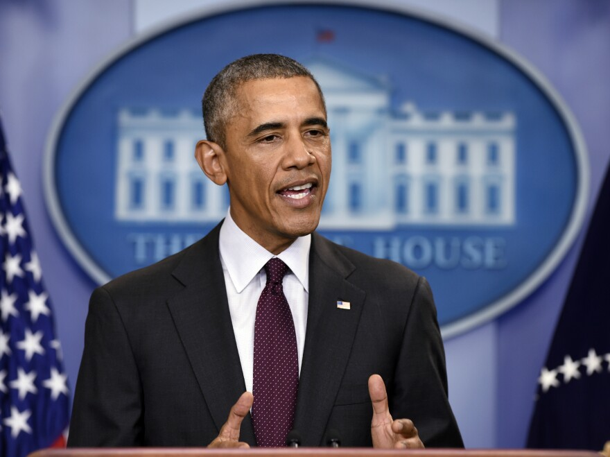 President Obama delivers a speech at the White House following the shooting at the community college in Oregon.