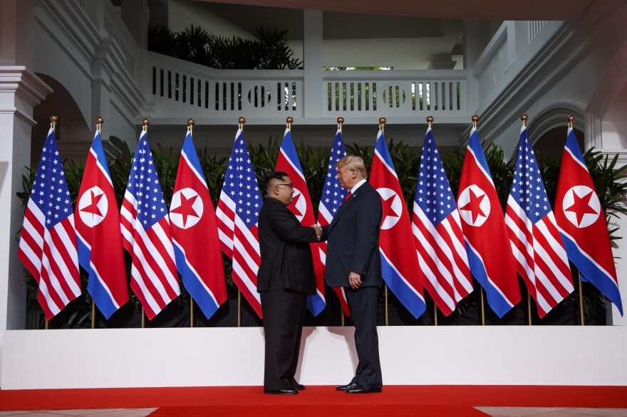 "After shaking hands with Kim Jong Un Tuesday morning, President Trump said, ""I feel really great. It's going to be a great discussion and I think tremendous success. I think it's going to be really successful and I think we will have a terrific relationship. I have no doubt."""