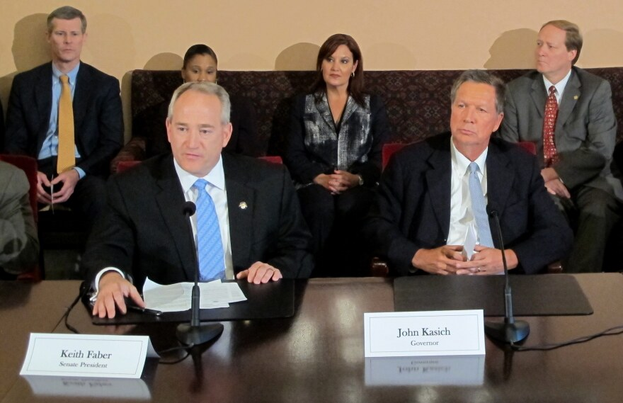 photo of Keith Faber and John Kasich