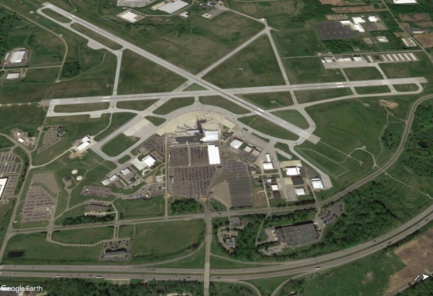aerial photo of Akron-Canton Airport
