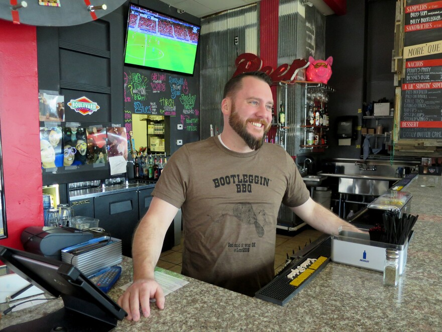 """Brenton Brown is the co-owner of <a href=""""http://bootlegginbbq.com/"""">Bootleggin' BBQ</a> in St. Louis, Mo., which is now serving """"humanely trapped"""" smoked beaver on Fridays during Lent."""