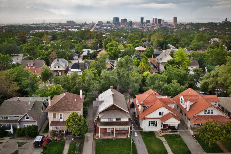 Photo of houses in Salt Lake City.