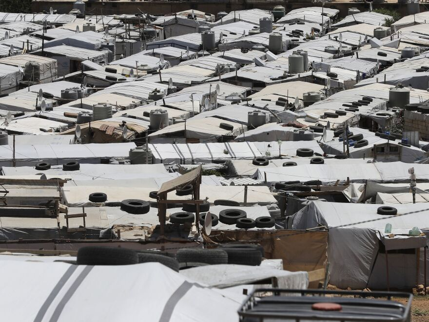 The sprawling Al-Nour camp in the northeastern Lebanese town of Arsal, in the Bekaa valley, near the border with Syria.