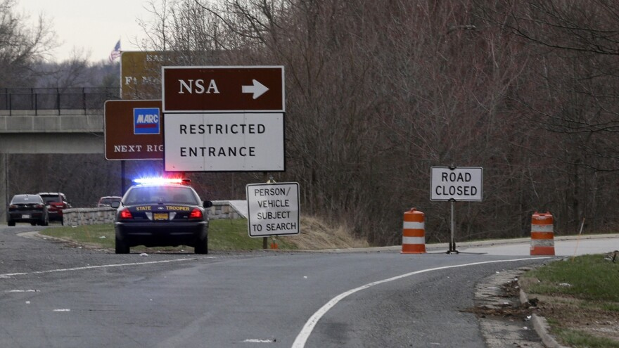 After a car attempted to crash a gate outside the NSA Monday morning, Maryland state police blocked the freeway entrance that accesses the agency's headquarters in Fort Meade, Md.