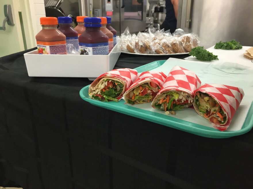 Miami-Dade schools are adding veggie wraps to the menu, and students can also grab Naked juice.