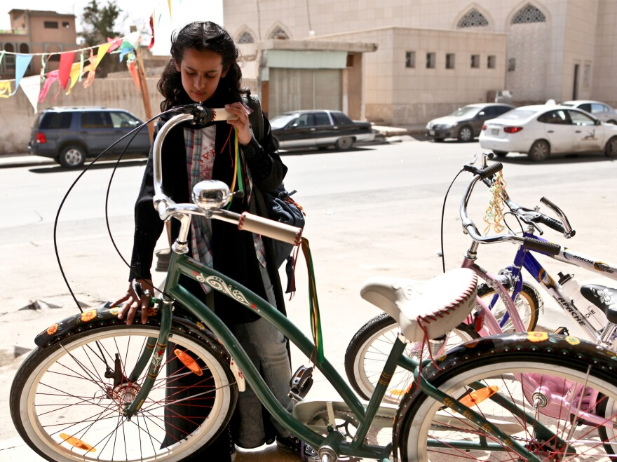 A scene from <em>Wadjda</em>, the first film made in Saudi Arabia by a female director. The film has been prominently featured at a number of international film festivals, including the Tribeca Film Festival in New York.