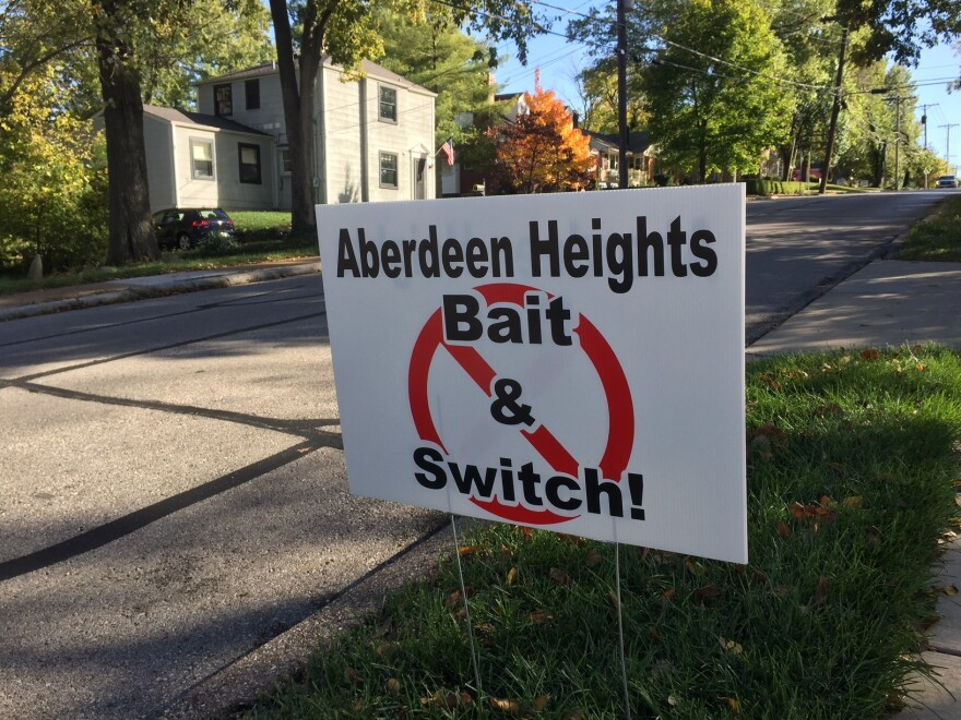 Opponents to an expansion plan have launched a petition drive and put up signs in yards in the neighborhood around Aberdeen Heights in Kirkwood.