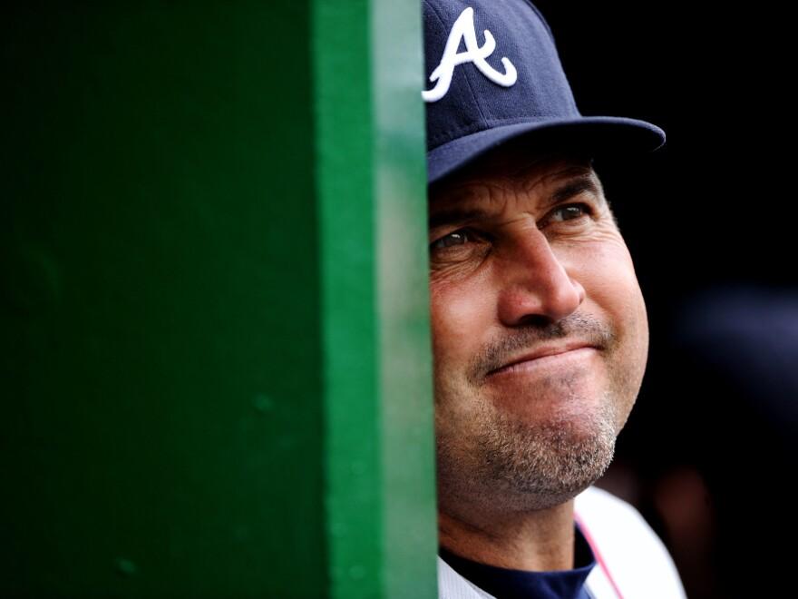 Atlanta Braves manager Fredi Gonzalez: the face of frustration.