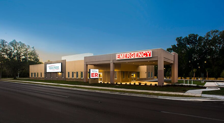 Capital Regional Medical Center's remote emergency room near Tallahassee's Southwood subdivision.