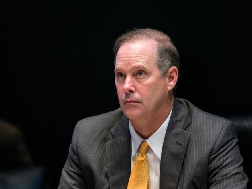 Wilton Simpson listening during a meeting